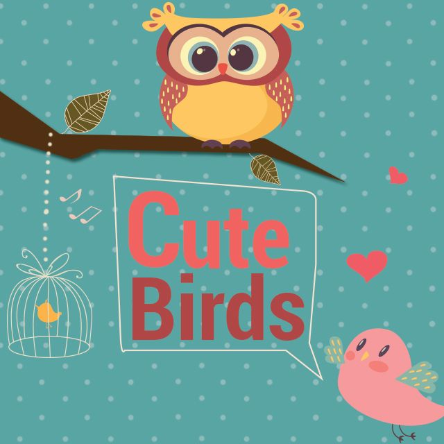 photo editing with cute birds clipart