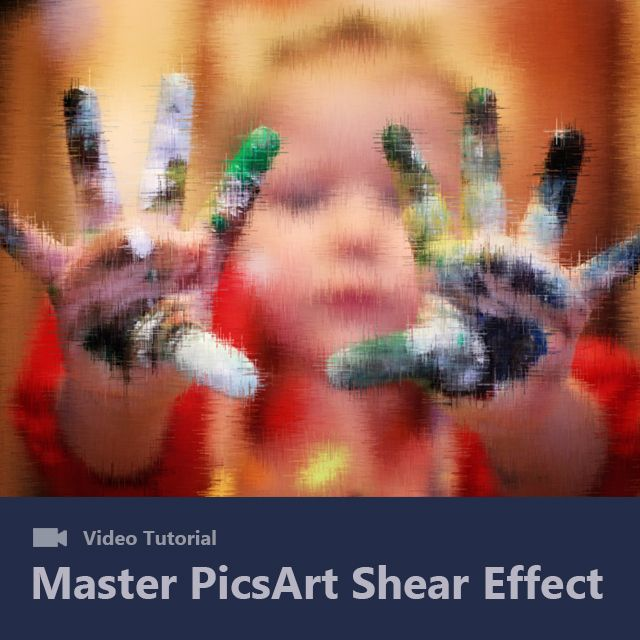 how to use shear effect in picsart