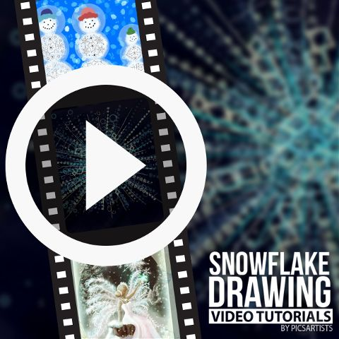 snowflake drawing time-lapse video