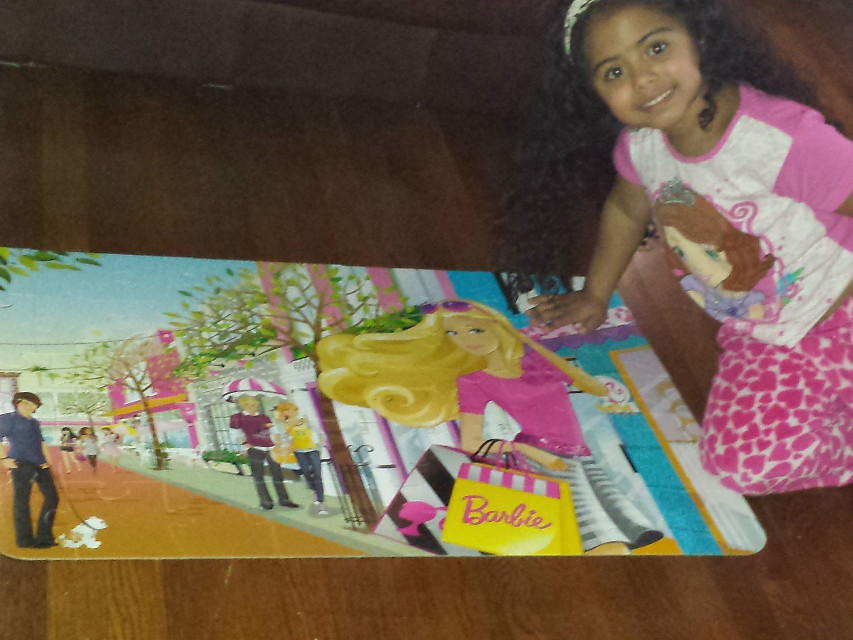 Scatlett finished her puzzle.