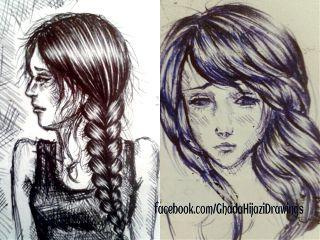 drawing black & white art sketch sad
