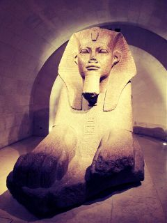 sphinx egypt paris museum louvre