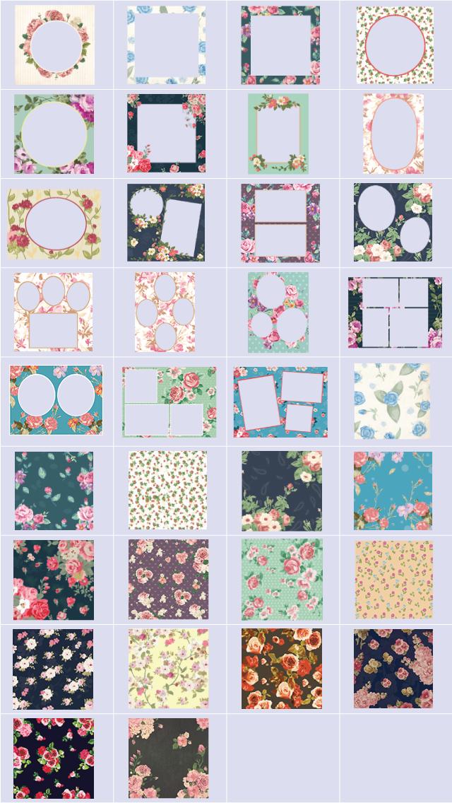 floral frames package