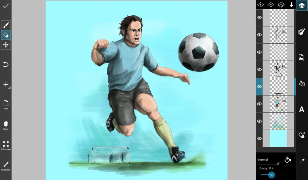 how to draw a soccer game step by step
