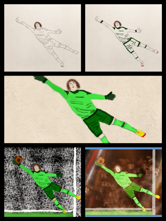 how to draw soccer step by step