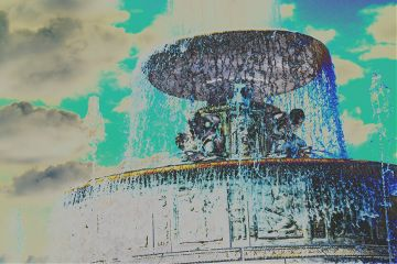 colorful summer fountain something new leave comment