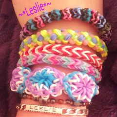 bracelet loom color splash colorful lesliecreation photography