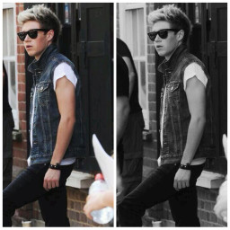 black and white niall niall horan collage one direction