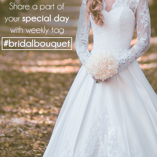 bridal bouquet photo tag
