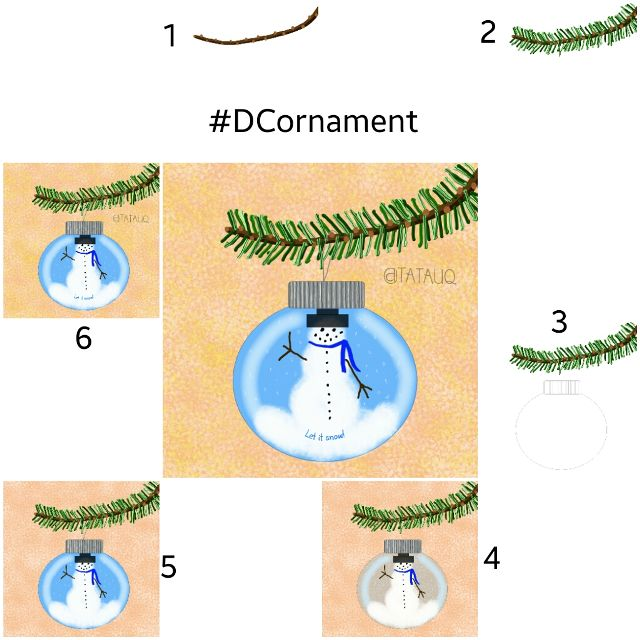 ornament drawing steps