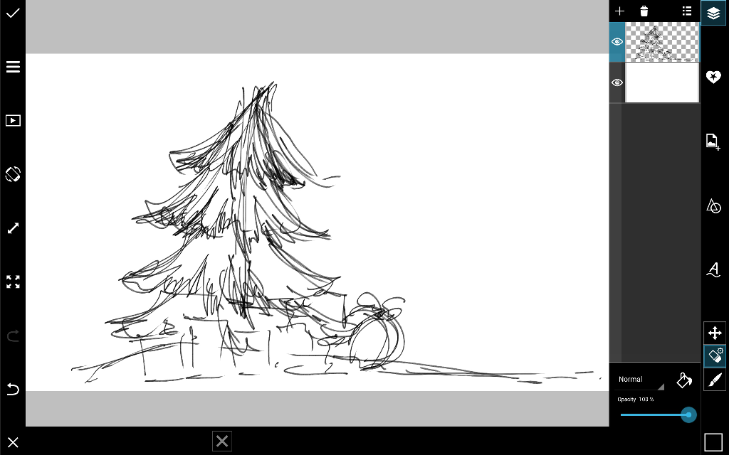Line Art Picsart : How to draw a christmas tree with picsart create