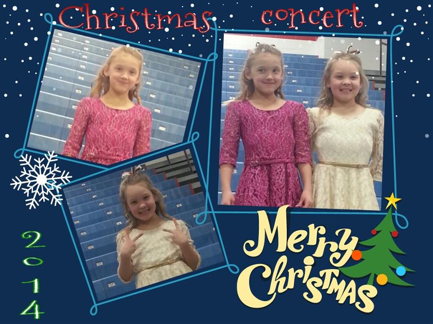 Alivia & Ashlyn's Christmas concert