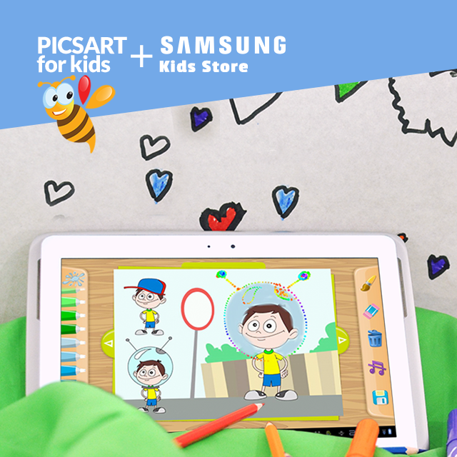PicsArt fo kids and Sumsung kids store