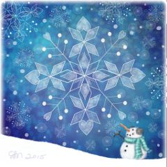 dcsnowflake winter colorful snow drawing