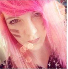 pinkhair pink girl lensflare