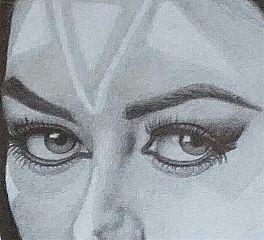 art drawing eyes beauty blackandwhite